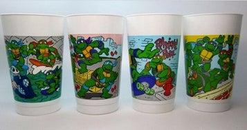 Teenage Mutant Ninja Turtle Cups McDonald's
