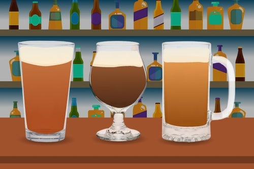 beer glasses graphic