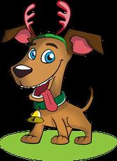 Dog Christmas graphic