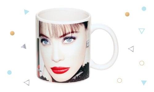 Glossy photo mug