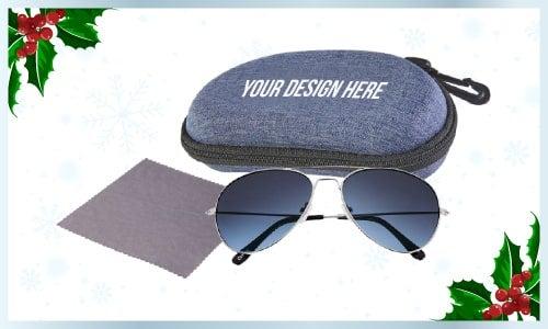 Gradient sunglasses with case