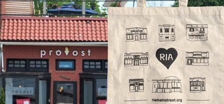 Main Street America tote bags