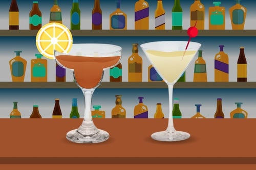 martini and margarita graphic