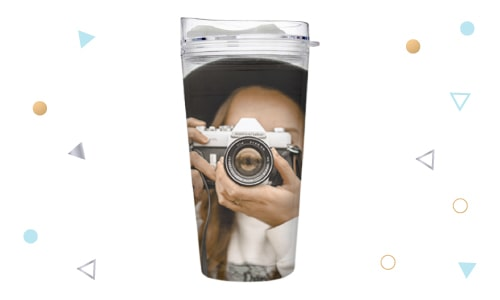 photo coffee tumbler