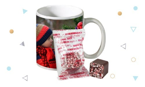 photo mug with hot cocoa gift