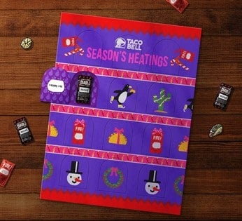 Taco Bell advent calendar