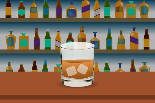 old fashioned whiskey glass graphic