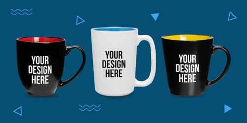 Mugs with colorful interior