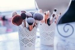 sanitize makeup brushes