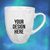 custom marble mug