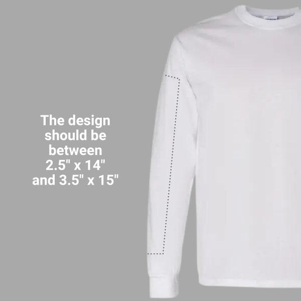 printing on a long sleeve t-shirt