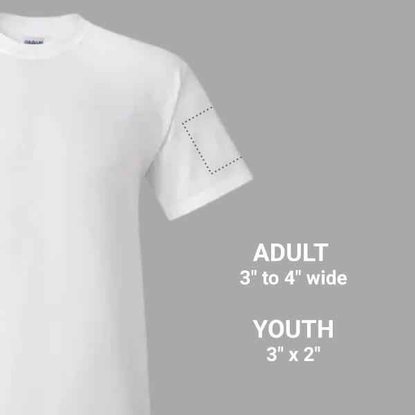 printing on a short sleeve t-shirt