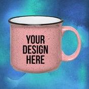 custom speckled mug