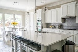 sanitize tables and countertops