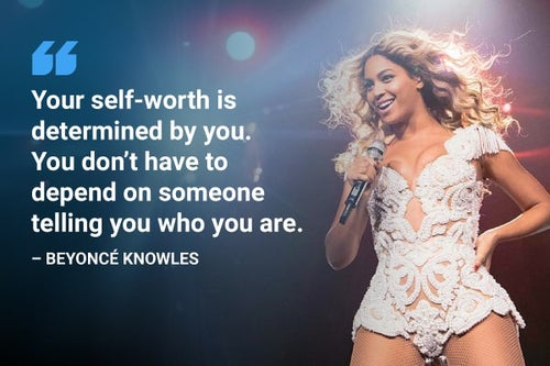 beyonce self-worth quote