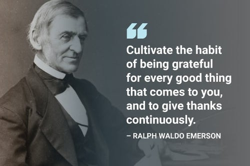 cultivate the habit of being grateful ralph waldo emerson