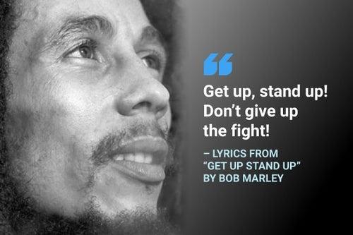 get up stand up bob marley lyrics