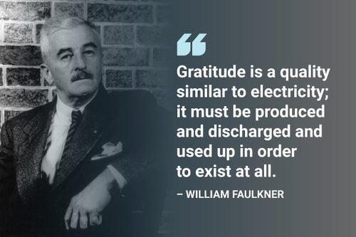 gratitude is similar to electricity quote