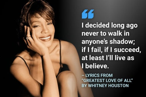 greatest love of all whitney houston lyrics