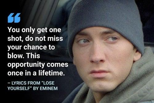 lose yourself eminem lyrics