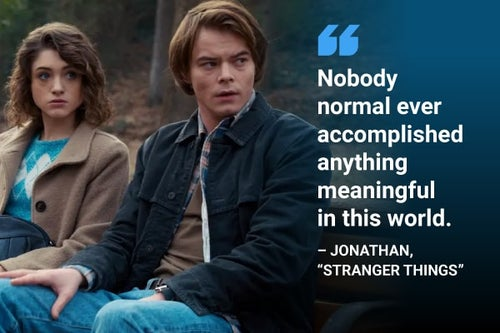 nobody normal stranger things quote