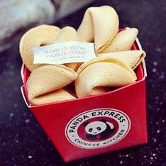 Panda Express fortune cookies