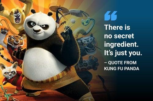 there is no secret ingredient kung fu panda