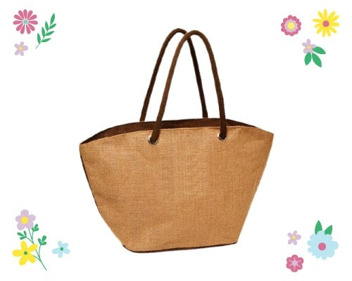 jute tote bags for spring
