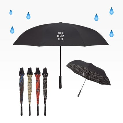 plaid reversible umbrella