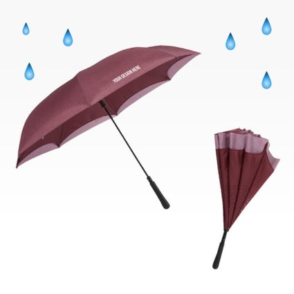 solid colored inverted umbrella