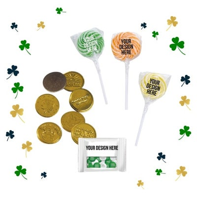 chocolate coins and candy for St. Patrick's Day
