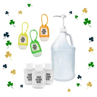 hand sanitizer for St. Patrick's Day