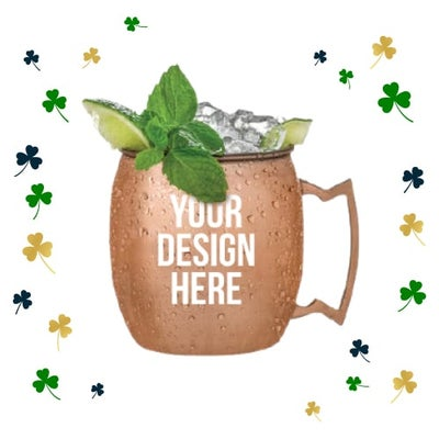 Moscow mule mugs for St. Patrick's Day