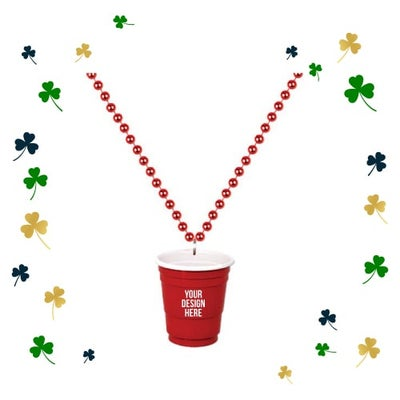 beaded necklaces for St. Patrick's Day