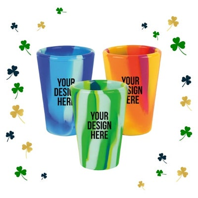rainbow pint cups for St. Patrick's Day