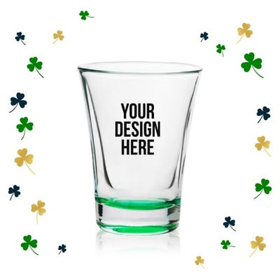 personalized shot glasses for St. Patrick's Day