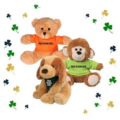 stuffed animals for St. Patrick's Day