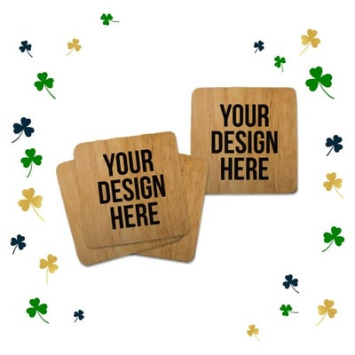 wood coasters for St. Patrick's Day