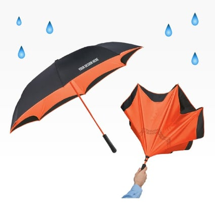 two tone inverted umbrella