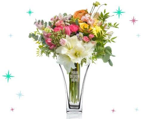 engraved glass vases