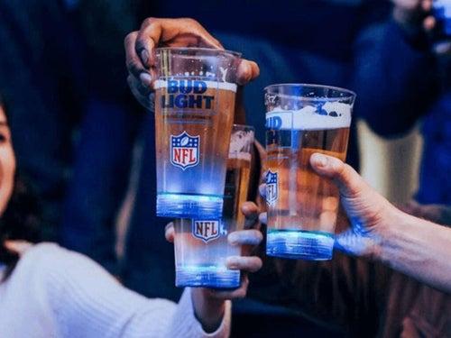 budweiser light up beer glasses