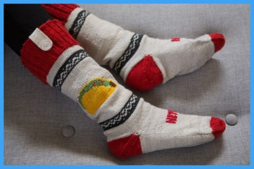 Netflix remote control socks