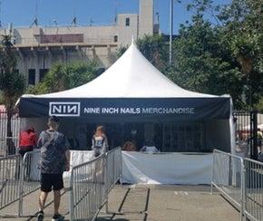 Nine Inch Nails merch tent