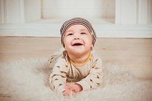 Baby in a onesie
