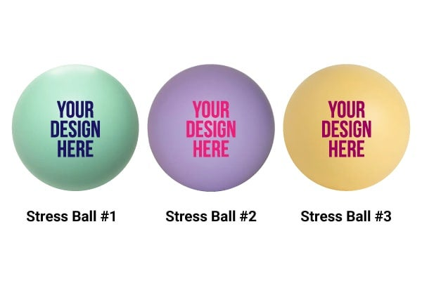 colorful promotional stress balls