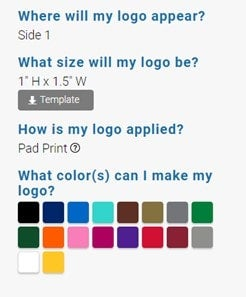 what imprint colors can i get on promotional items