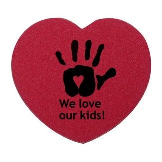 custom heart shaped erasers