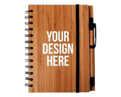 personalized bamboo notebooks