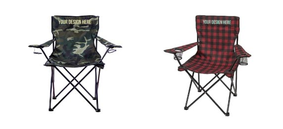 Plaid or Camo Chair with Light Ink