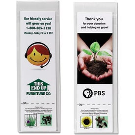 Bookmark with Seeds